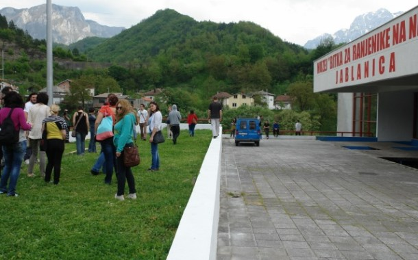 Bosnian Youth Stage Prison Camp Remembrance Tour