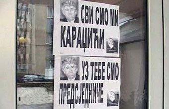 Plakati podrške Karadžiću i Mladiću