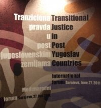 Forum on Transitional Justice Held in Sarajevo