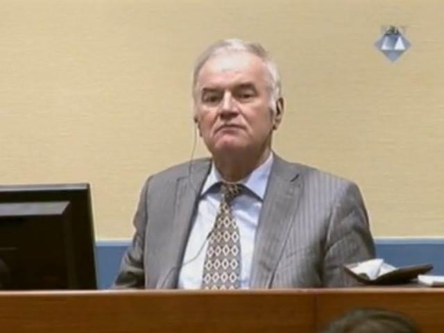 Ratko Mladić u Haagu. Izvor: MKSJ