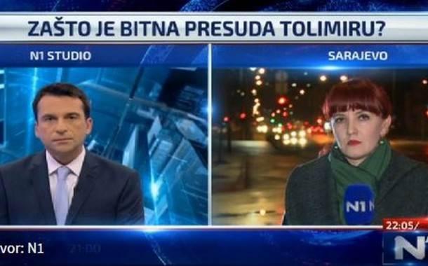 Erna Mačkić za N1: Presuda Tolimiru dobra osnova za presudu Karadžiću