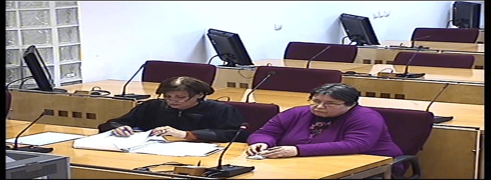 Azra Bašić sa advokaticom Izvor: Sud BiH