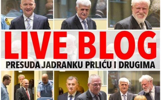 LIVE BLOG: Presuda Jadranku Prliću i drugima