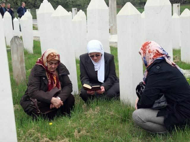 Oplakivanje žrtava ratnih zločina u Ahmićima i Trusini