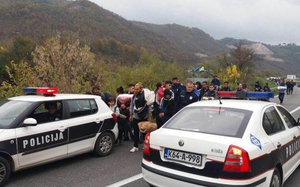 Grupa migranata iz Kladuše pokušala prijeći u Hrvatsku