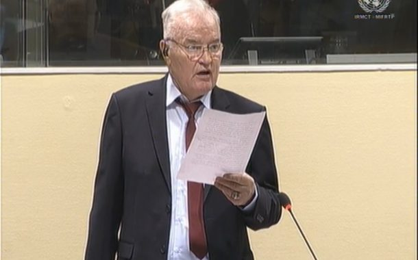 Ratko Mladic: 'My Health Continues to Fail'