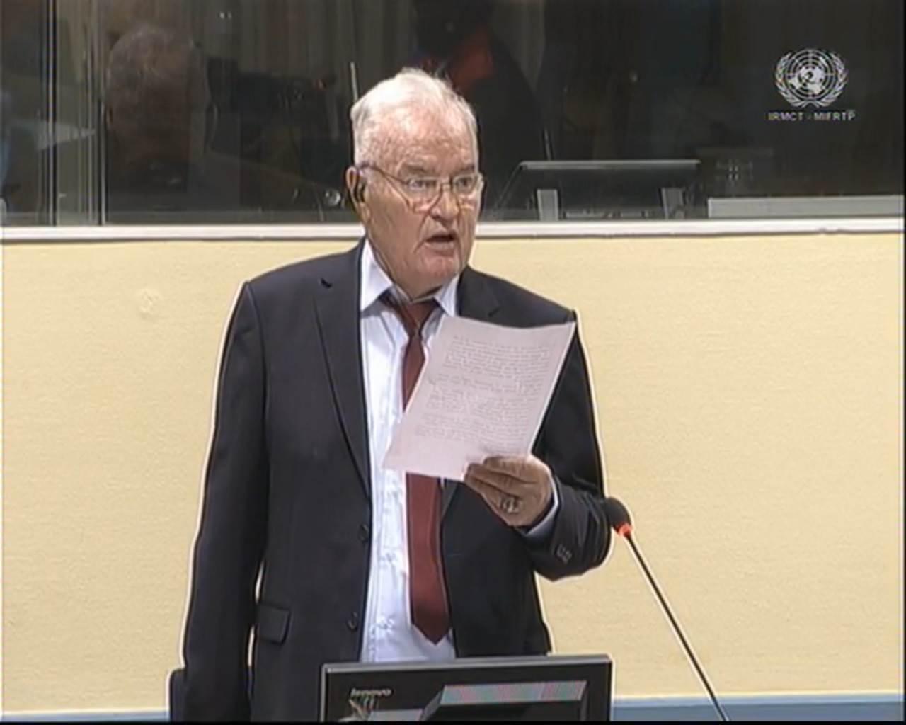 Statusna konferencija u predmetu Ratka Mladića zakazana za početak oktobra