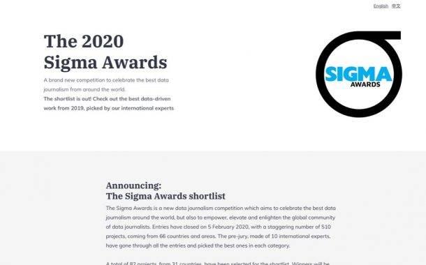 BIRN BiH Shortlisted for Sigma International Award for Data Journalism